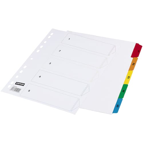 Register STAPLES A4 mylar 1-5 produktbilde