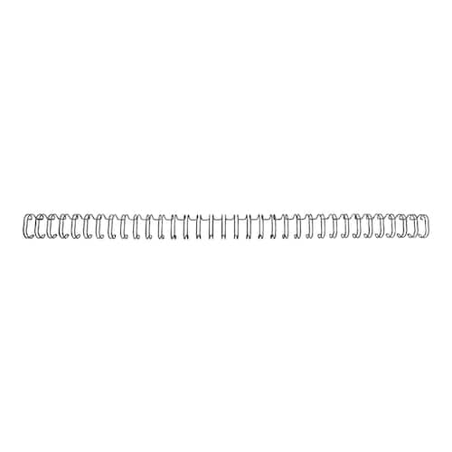Metallspiral GBC 12,5mm 3:1 sort (100) produktbilde Secondary4 L