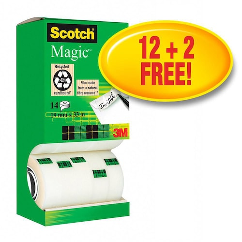 Tape SCOTCH Magic 810 12+2rl gratis(14) produktbilde