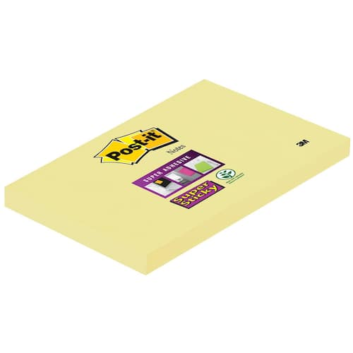 POST-IT SuperS 76x127mm 655-12 gul produktbilde