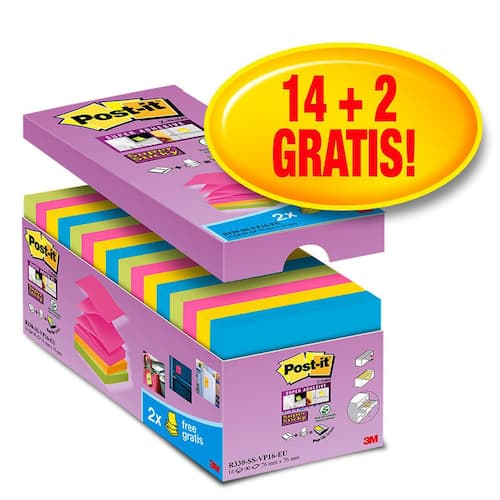 POST-IT SuperS Z-N 76x76mm R330 (16) produktbilde