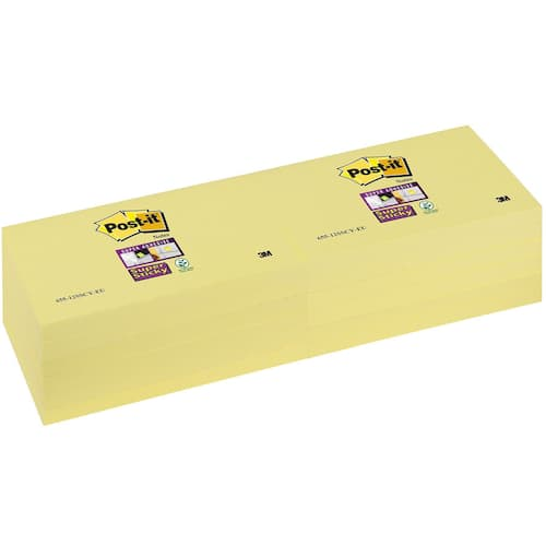 POST-IT SuperS 76x127mm 655-12 gul produktbilde Secondary2 L