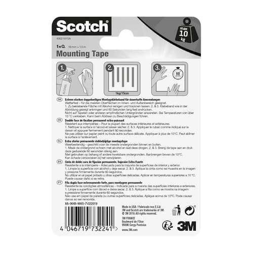 Monteringstape SCOTCH 19x1,5m s.sterk1 produktbilde Secondary2 L