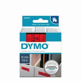 Tape DYMO D1 12mm x 7m sort/rød produktbilde