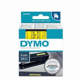 Tape DYMO D1 9mm x 7m sort/gul produktbilde