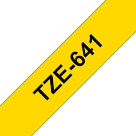 Tape BROTHER TZe-641 18mmx8m sort/gul produktbilde