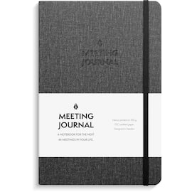 Meeting Journal BURDE A5 192S sort produktbilde
