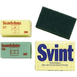Håndpad SCOTCH-BRITE 9660 158x224mm grøn produktbilde