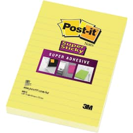 POST-IT SuperS 102x152mm linjer gul produktbilde