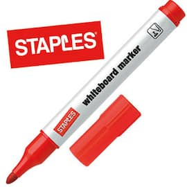 Whiteboardpenn STAPLES 1,5-3mm rød produktbilde