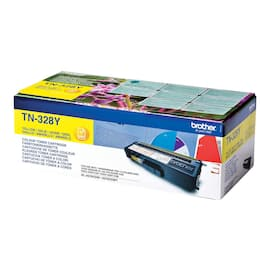 Toner BROTHER TN328Y 6K gul produktbilde