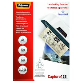 Lomme FELLOWES A4 glossy 125my (100) produktbilde