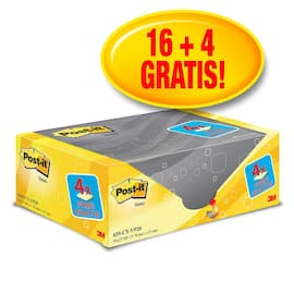 POST-IT 76x127mm økonomi gul (20) produktbilde
