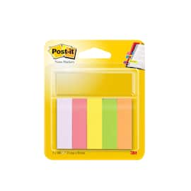 POST-IT Bokmerke 15x50mm 5 neonfarger produktbilde