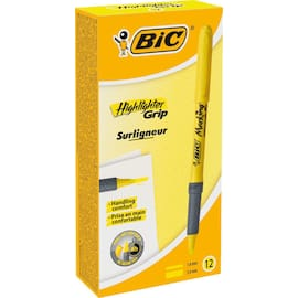 Tekstmarker BIC Highlighter Grip gul produktbilde