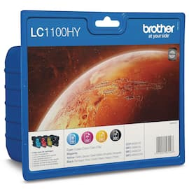 Blekk BROTHER LC1100HY A3 sort + CMY (4) produktbilde