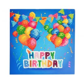 Kort Crystal Art Happy Birthday produktbilde